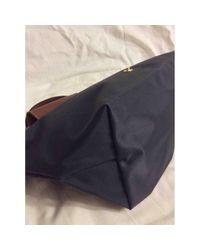 Longchamp Blue Pliage Handtaschen