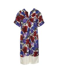 Dries Van Noten Multicolor Multicolour Silk Dress