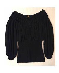 Roberto Cavalli \n Black Wool Knitwear