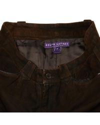 Pantalons en Suede Marron Polo Ralph Lauren en coloris Brown