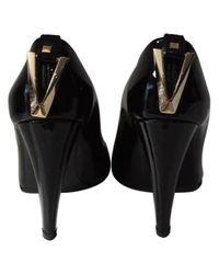 Versace Black Pumps Lackleder Schwarz