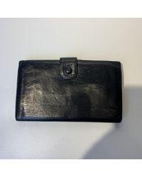 Cartera en cuero negro Chanel de color Black