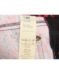 Versace \n Red Cotton Jeans