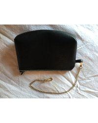 Lancel Black Elsa Sellier Leder Handtaschen