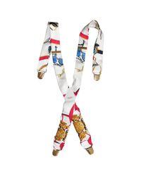 Cintura in seta bianco di Hermès in White