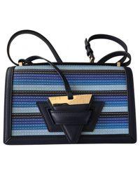 Loewe - Blue Pre-owned Barcelona Leather Handbag - Lyst