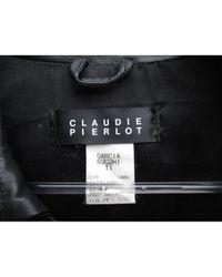 Claudie Pierlot Black Leder Mäntel