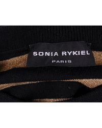 Sonia Rykiel Metallic Gold Wool Knitwear