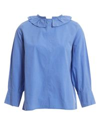 Camisa en algodón azul Atlantique Ascoli de color Blue