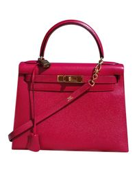 Hermès Red Kelly 28 Leder Handtaschen