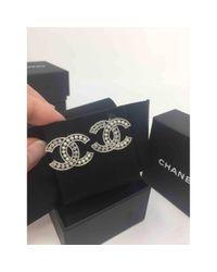 Chanel Metallic Cc Ohrringe