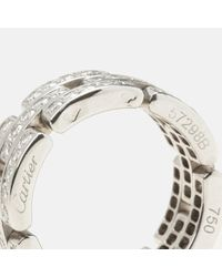 Cartier White Maillon Panthère Weißgold Ringe