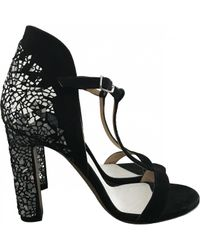 Maison Margiela Pre-owned Black Leather Sandals