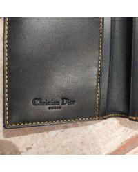 Dior Multicolor Saddle Leinen Portemonnaies