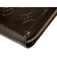 Louis Vuitton Natural Zippy Lackleder Portemonnaies