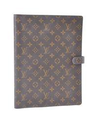 Porte-documents en toile Louis Vuitton pour homme en coloris Brown