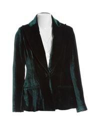 Vestes en Viscose Vert Cushnie et Ochs en coloris Black