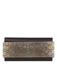 Hermès Metallic Clutch aus Leder