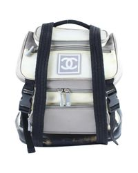Chanel - Gray Pre-owned Cloth Backpack - Lyst