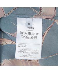 Valentino Blue Seide Hemd