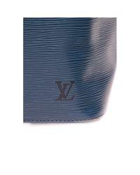 Louis Vuitton Blue Noé Leder Handtaschen