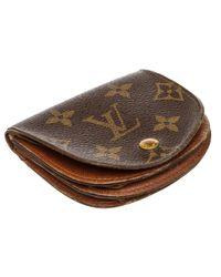 Louis Vuitton Brown Leinen Portemonnaie