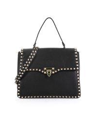 Valentino Black Rockstud Leder Handtaschen