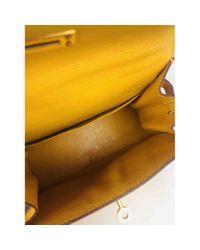 Hermès Yellow Kelly Mini Leder Handtaschen