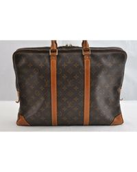 Louis Vuitton Brown Leinen 24 Std/ Tasche