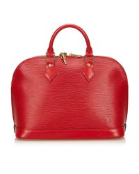 Louis Vuitton Red Alma Leder Handtaschen