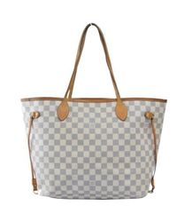 Louis Vuitton Gray Pre-owned Neverfull Cloth Tote