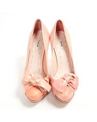 Miu Miu \n Pink Leather Heels