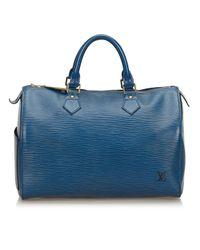 Louis Vuitton Blue Speedy Leder Handtaschen