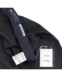 Acne Gray Wool Trousers for men