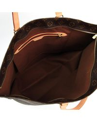 Louis Vuitton Brown Leinen Shopper