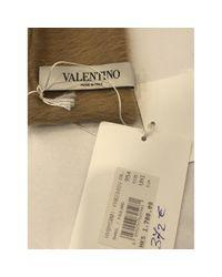 Pañuelos en cachemira camel Valentino de color Natural