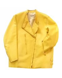 Acne Pre-owned Yellow Leather Jackets