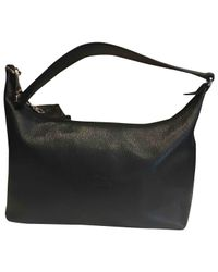 Longchamp - Pre-owned Black Leather Handbags - Lyst