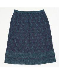 Missoni Blue Viscose Skirt