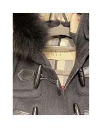 Burberry Black Wolle Dufflecoat