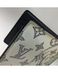 Louis Vuitton White Leinen Portemonnaies