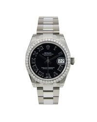 Reloj en acero negro Datejust 31mm Rolex de color Black