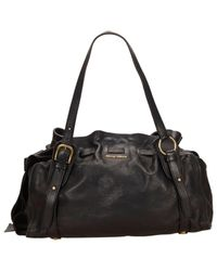 Miu Miu Vitello Black Leather