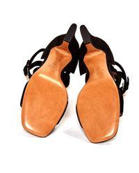 Sandalias en ante negro Valentino de color Black