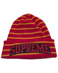 158213717ab Supreme Wool Beanie in Red - Lyst