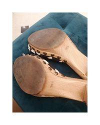 Sandales \N en Toile Bleu Miu Miu en coloris Blue