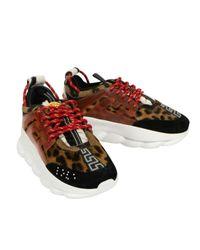Versace Leder Sneakers in Brown für Herren