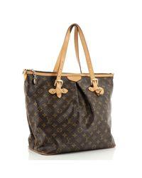 Louis Vuitton Brown Palermo Leinen Handtaschen