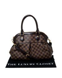 Louis Vuitton Brown Trevi Leinen Aktentaschen