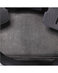 Bolsa de mano en cuero negro Birkin Shoulder Hermès de color Black